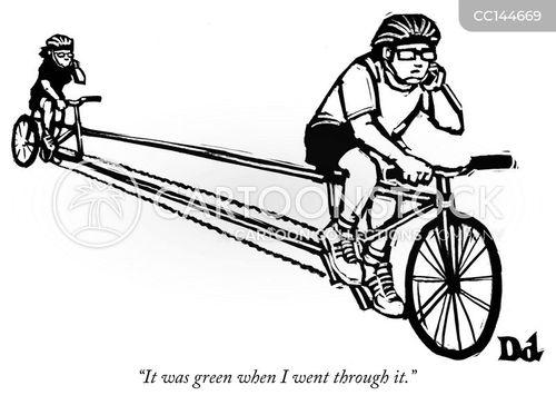 bicycle cartoons and comics