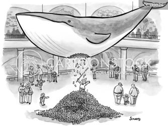 Blue Whale Cartoons and Comics funny pictures from CartoonStock