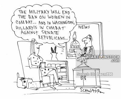 Female News and Political Cartoons