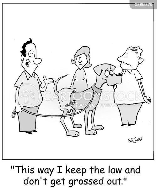 Walking The Dog cartoons, Walking The Dog cartoon, funny