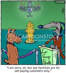 fancy restaurant cartoon chandelier cartoons funny dog animals cartoonstock owner comics dislike