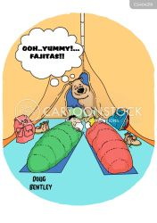 sleeping bag bags fajitas cartoon cartoons funny fajita mexican comics bears cartoonstock animals wraps dislike illustration