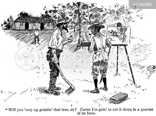 Idyllic Vintage and Historic Cartoons