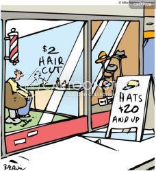 hair barbershop cut cartoons cartoon funny hat barber comics stores haircut barbers haircuts cuts shops cartoonstock low illustration dislike business