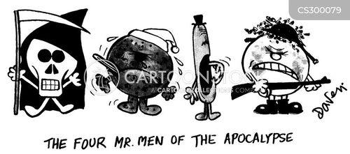 The Four Horsemen Of The Apocalypse Cartoons and Comics
