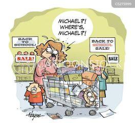chaotic cartoon lost child funny cartoons shopping comics trolley children trip cartoonstock dislike illustrations