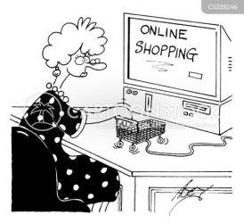 ecommerce shopping cart cartoon cartoons funny comics internet cartoonstock computers dislike mouse web