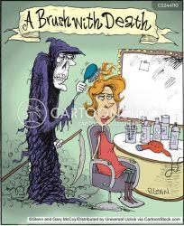 close call calls cartoon shave cartoons funny death comics brush cartoonstock reaper associations game grim dislike