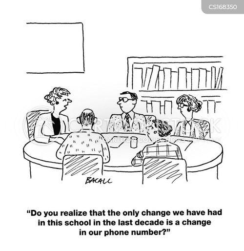 Cartoons und Karikaturen mit Schulleiter