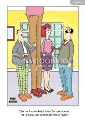 close visual puns friends cartoon cartoons friend funny comics pun friendship cartoonstock extended families dislike