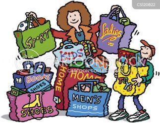 shopping woman lady shoes boy