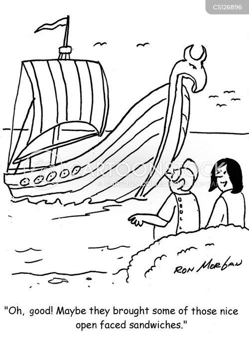 Cartoon Viking Ship Stock Illustration Illustration Of