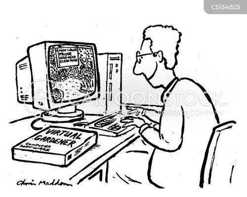 Virtual Reality Computer Software Cartoons and Comics
