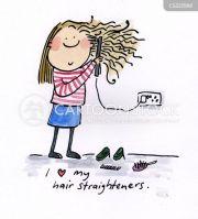 straight hair cartoons and comics