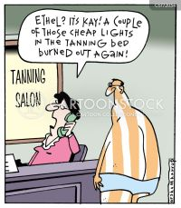 Tanning Salon Cartoons and Comics