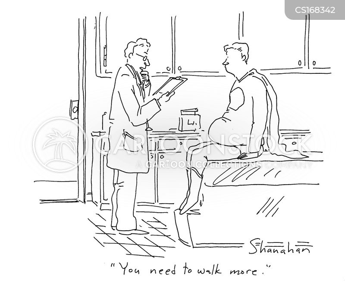 Cartoons und Karikaturen mit Orthopädie