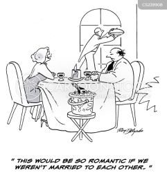 fancy cartoon restaurants cartoons dinner comics funny romantic cartoonstock meal dislike