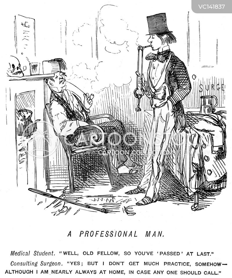 Medical Student Vintage and Historic Cartoons