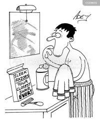 shave shaving close cartoons cartoon funny razor comics cartoonstock sleek dislike shaves