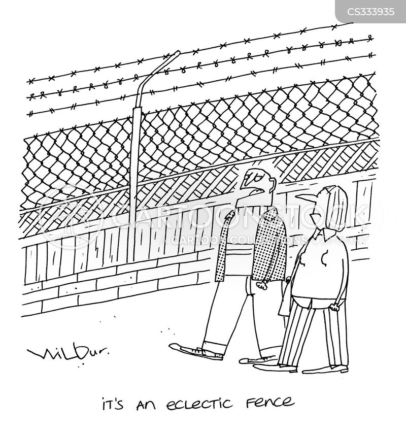 Barbed Wire Fence Cartoon