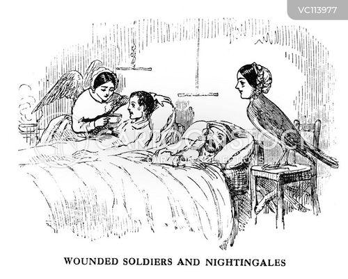 Florence Nightingale Vintage and Historic Cartoons