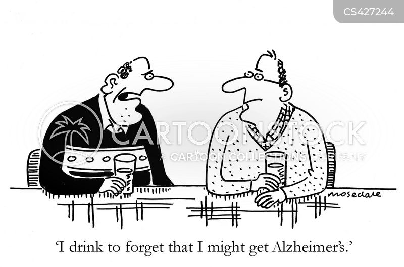 Alzheimers Disease cartoons, Alzheimers Disease cartoon