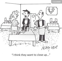 closing restaurant cartoon times funny close closes illustration kitchen cartoonstock dislike 930pm 10pm ordering seated annoying workers customer too states