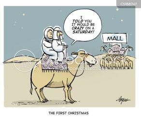 christmas camel shopping holy land funny cartoons cartoon retail mall comics cartoonstock dislike holidays