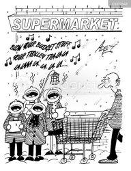 shopping mas cartoon carol funny cartoons christmas retail food comics cartoonstock xmas dislike