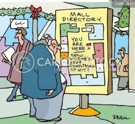 shopping mall directory cartoon funny cartoons christmas minute last comics shopper shoppers retail cartoonstock dislike spirit