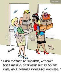 shopping spree cartoons funny cartoon comics retail stores dislike already illustration cartoonstock there