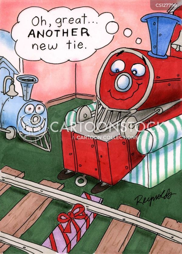 Train Tracks Cartoons And Comics - Funny
