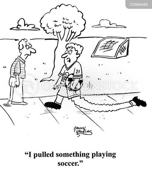 Cartoons und Karikaturen mit Physiotherapie