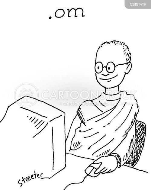 Buddhist Monk Cartoon Illustration