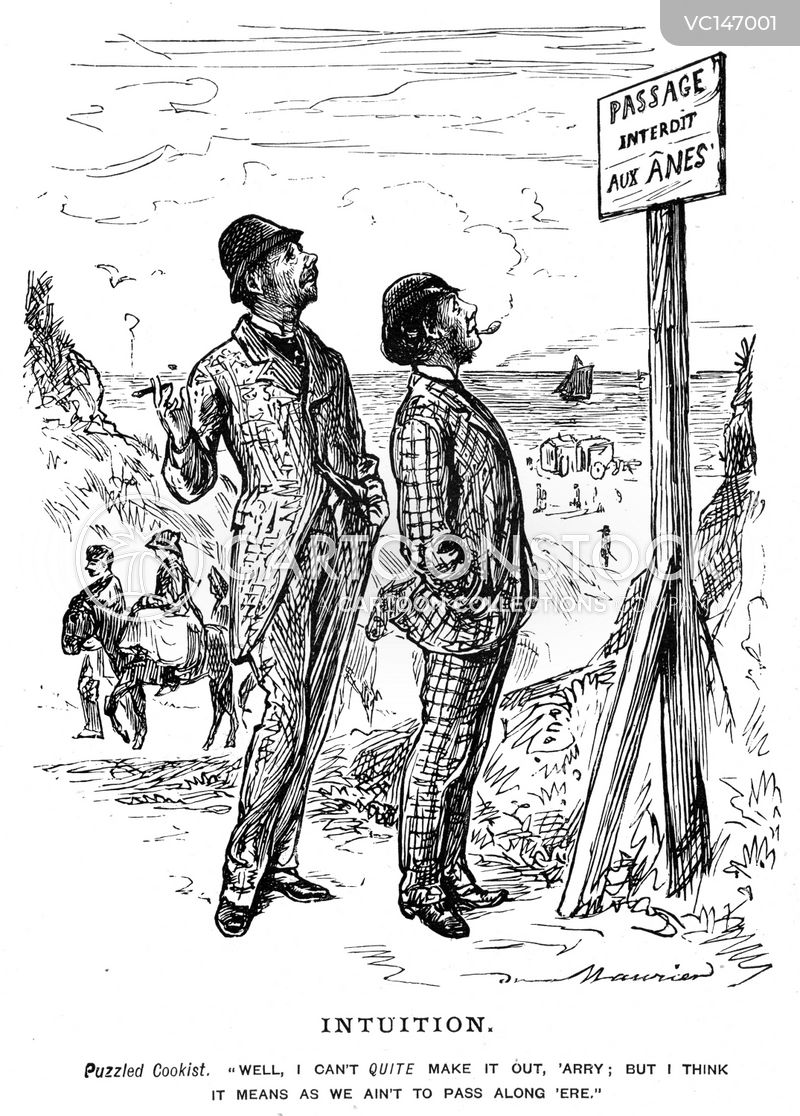 Language Barriers Vintage and Historic Cartoons
