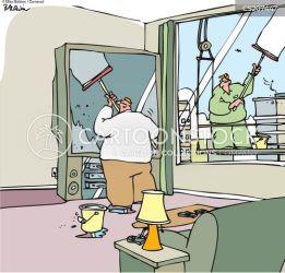 window cleaning cartoon funny cartoons comics screen tv cleaners cartoonstock wide screens dislike huge