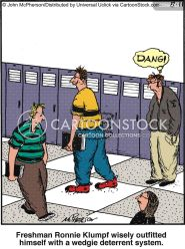 wedgies cartoon cartoons funny comics secondary student pupil cartoonstock dislike illustration