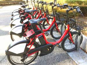 ドコモの自転車シェアリング
