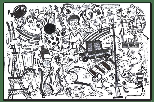 Collage Sketch  Remy Ratatouille  Simin aka Joan Portfolio