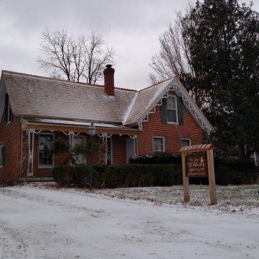 Snow at the institute.