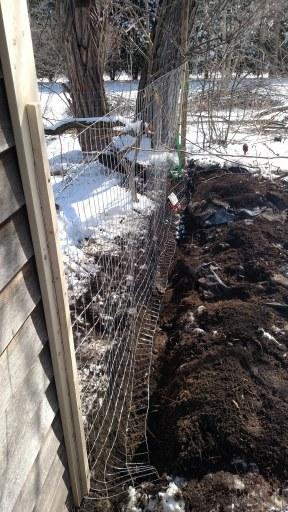 A buried fence.