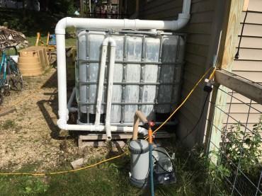 Pool pump to increase volume.