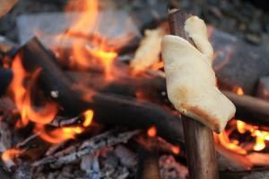Build a camp fire at Haigh Woodland Park