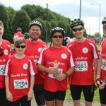 Riders taking part in the Manchester to Blackpool ride for Wigan and Leigh Hospice