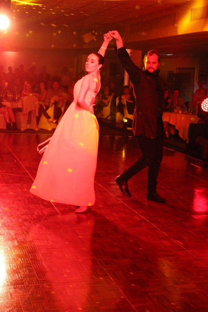 Lowton's Allex Grimshaw dances with professional Roisin Rutherford.