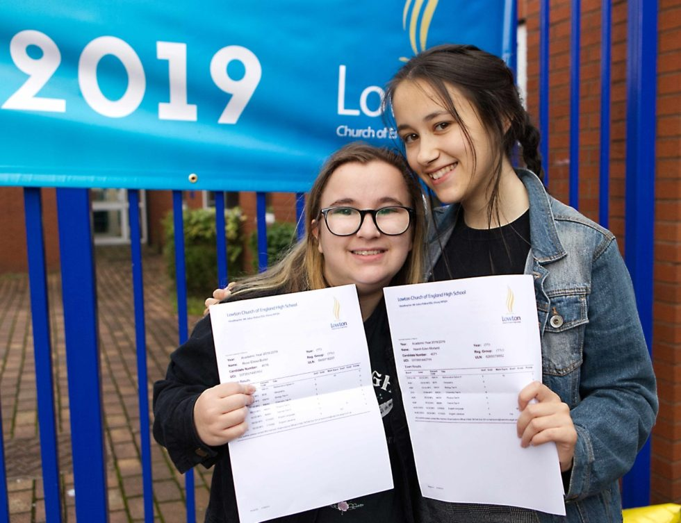 Lowton High are celebrating record breaking GCSE results