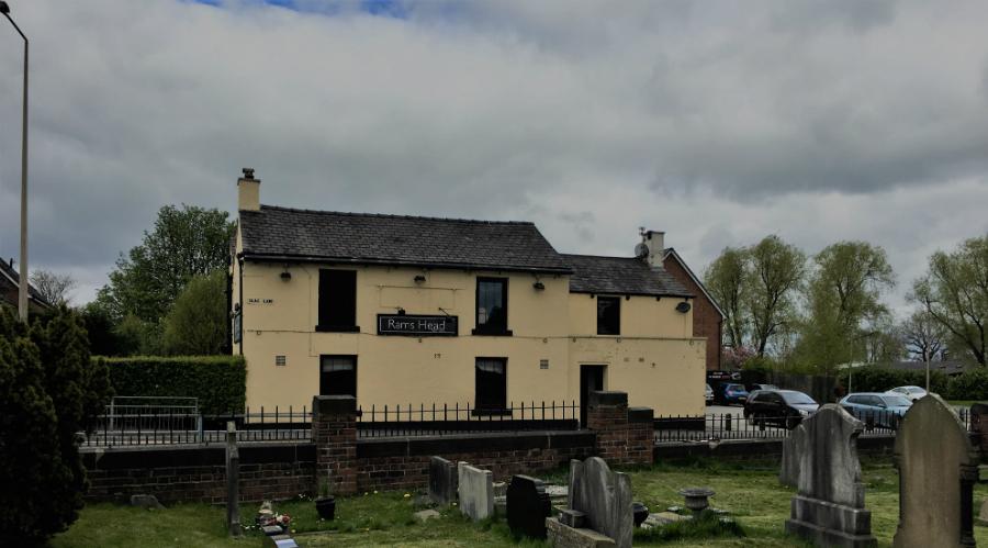 The Ram's Head pub in Lowton