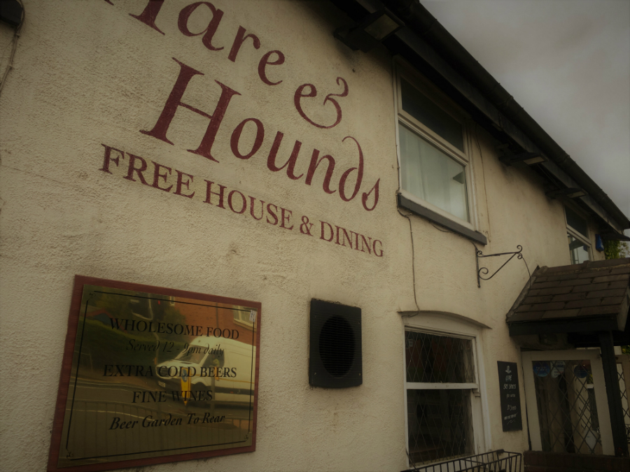 The outside of the Hare and Hounds Public House in Lowton