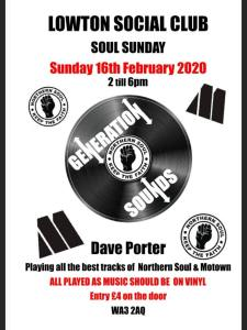 Soul Sunday at Lowton Social Club