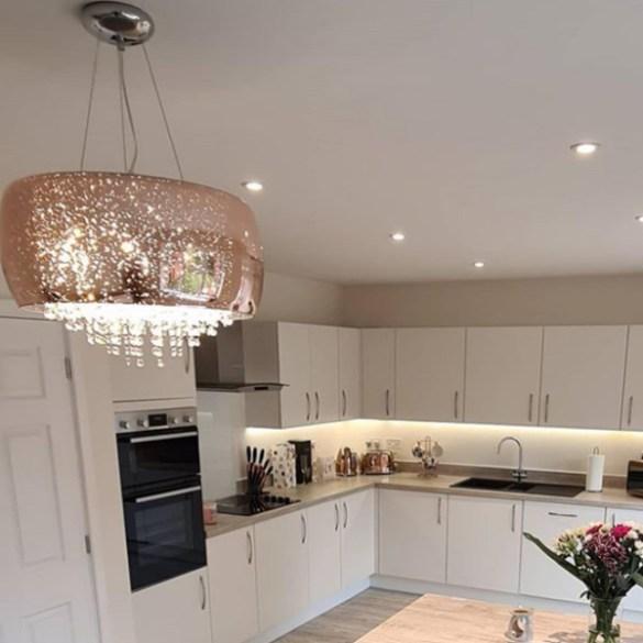 Kitchen light installed by KA Davies Electrical